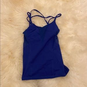Blue lulu lemon tank